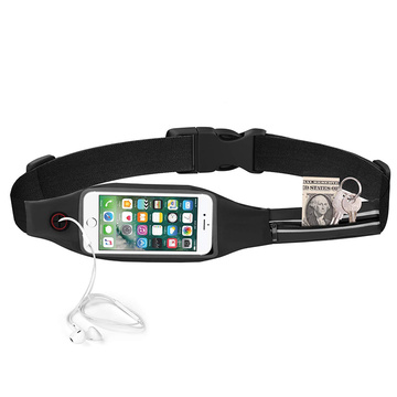 Travel Running Reflective Fanny Pack con finestra touchscreen