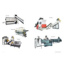 Máquina que recicla de la película de los PP PE para granular plástico que se lava