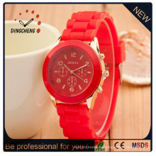 Reloj de moda personalizado, reloj de gelatina de silicona, reloj de caramelo lindo (DC-351)