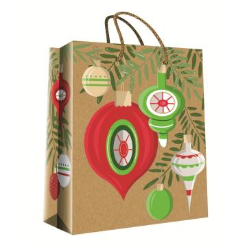 CHRISTMAS SERIES KRAFT GIFTBAG18-0