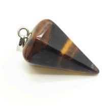 6 side coin Shape Yellow Tiger eye pendant Fashion Plummet Jewelry