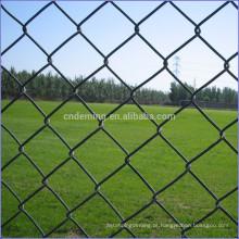 DM PVC revestido ou galvanizado Chain Link Fence feita na fábrica chinesa