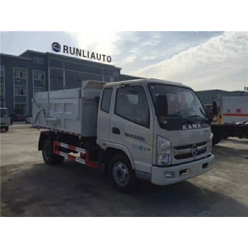 KAMA 3300 wheelbase truk sampah docking semi-terkompresi