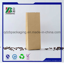 Customized Square Bottom Kraft Paper Bag for Coffee or Tea