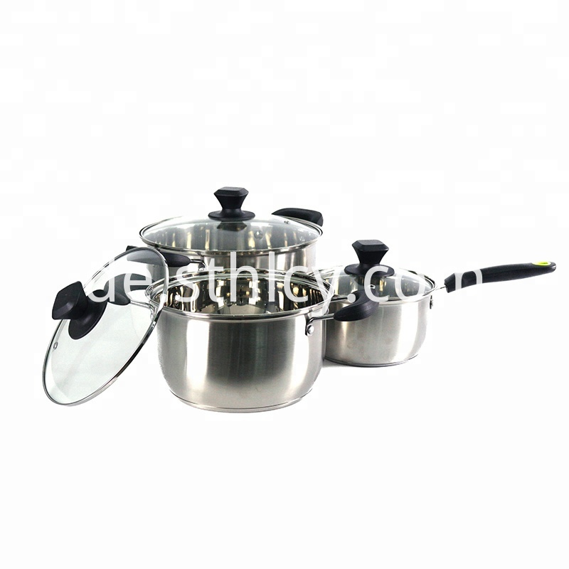 Stainless steel cooker kit.