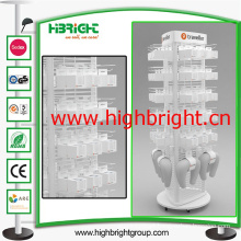 Supermarket Acrylic Revovling Display Stand for Plugs