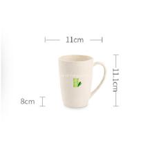 Copo plástico de fibra de bambu para café com água