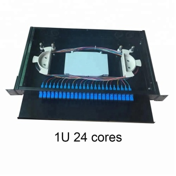 24 Pelabuhan LC / SC Singlemode Fiber Optic Panel