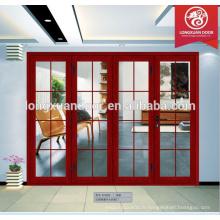 Dernières conceptions panneau de portes pliante en aluminium intérieur pour vente