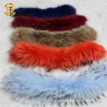 Detachable Raccoon Fur Trim Collar for Fashion Ladies