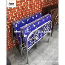 Super large size king size steel single bed for sale
