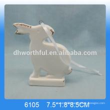Lovely ceramic rabbit hanging ornament, Hanging rabbit ornament
