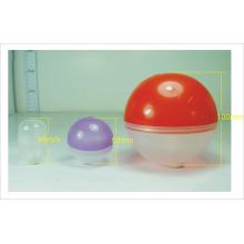 Bola de juguete de plástico de plástico de colores con proceso de inyección