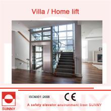 Operação segura, elevador estável da casa de campo da qualidade com projeto incluido todo-Vidro, Sn-EV-033