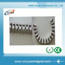 Aimant permanent de cylindre de néodyme pour le moteur