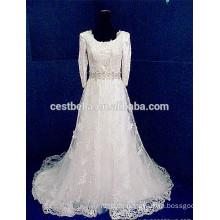 Brautkleid-lange Hülse Spitze-moslemisches Hochzeits-Kleid 2016