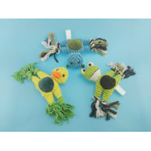 Cute Cutton Rope Frog Toy for Pets Playing