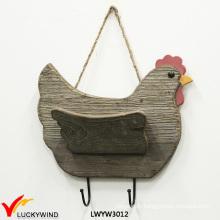 Three Color Hen Shape 2 Hooks Plaque