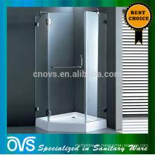 carcasa de ducha redonda con marco de aluminio