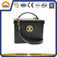 Caja cosmética de impresión de cuero de nuevo diseño Hb-6633