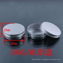 Grosses soldes! 100 ml Alumium Jar pour emballages cosmétiques / Alumium Containers