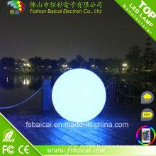 LED luzes de bola ao ar livre mudança de cor para a enquete de natação