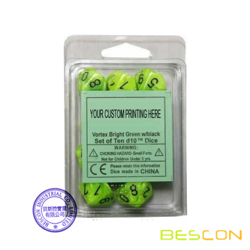 Dice Set in Custom Blister Packing