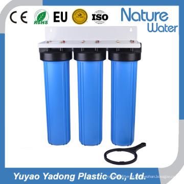 Três fase 20 polegadas grande filtro de água azul