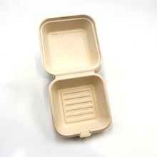 Hot Sale Compostable Food Container Trays With Lids Bagasse Sugarcane Lunch Box For Lunch Dinner