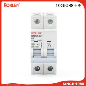 Miniature Circuit Breaker 4.5KA 63A 4P με CB
