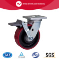 Heavy 6 Inch 750Kg Plate Freio TPU Caster