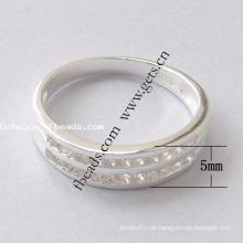 2015 Gets.com 925 Sterling Silber Blume Doppel Finger Ring