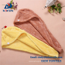 Customized hair drying towel, 80% polyester and 20% polyamide hair turban Customized hair drying towel, 80% polyester and 20% polyamide hair turban