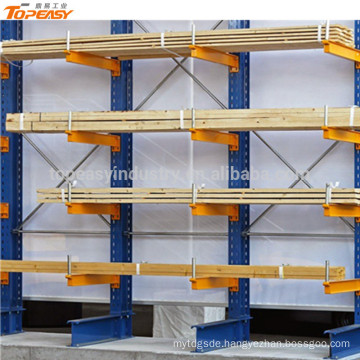 warehouse cantilever single rack for storage pipe