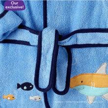 Shark Pttn Baby Boys Booties and Bath Robe (DPFT80131)