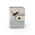 Porte-cartes PU mosaïque chat mignon personnalisé