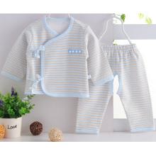 Ropa de bebé recién nacido rayado de algodón peinado