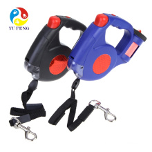 New design automatic retractable dog leash with flashlight