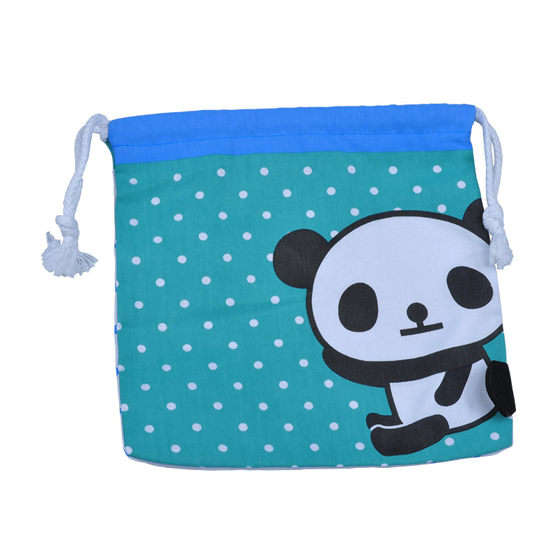 Blue cotton fabric bag