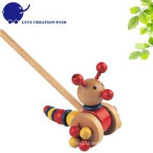 Lovely Wooden Push Caterpillar Toy