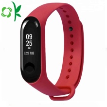 Premium Design Logo Red Silicone Smart Watch Strap