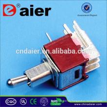 SMTS-202-2C4 2 polos de 4 pines de largo mini interruptor de palanca