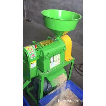 Mini marrone Huller Machine Mulino di riso per grano