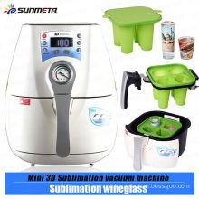 newest product 3d mini sublimation vacuum machine for sublimation wineglass/mug printing
