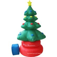 Árvore de Natal inflável animada girando para decoração