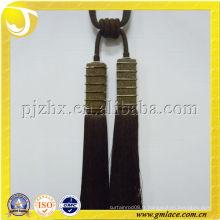 Double tassé décoratif rideau tieback tassel accessoire textile rideau perlé