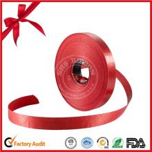 Rouleau de ruban rouge personnalisé en gros pour cadeau décoratif