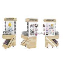 Benutzerdefinierte Logo Bodenbelag Metall und Holz Kopfhörer Display Stand, Auto Alarm Audio Display System