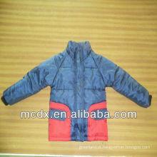 Casaco de criança infantil de algodão de costura de duas cores