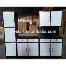 Strong use stainless steel kitchen cabinet simple designs